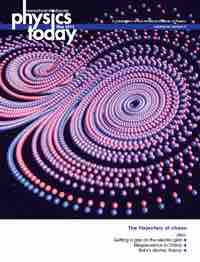 Physics Today Cover 2013
